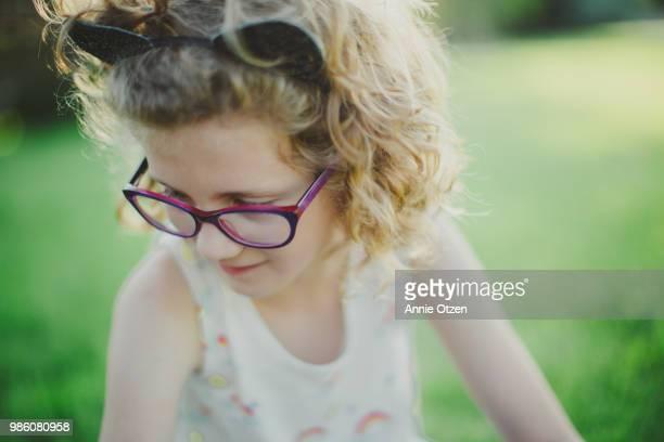 Close up of a cute little girl