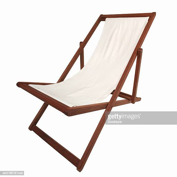 Close up of a deck chair