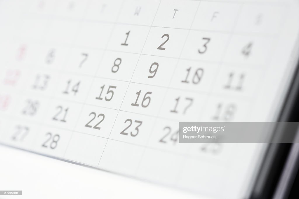 Close up of a desk calendar : Stock Photo