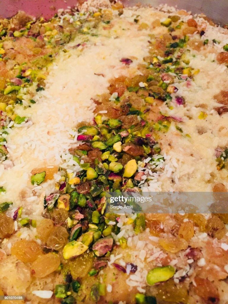 Close up of a dessert in Jordan, Om Ali : Stock Photo