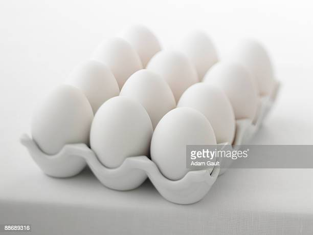 close up of a dozen eggs - dozen stock pictures, royalty-free photos & images