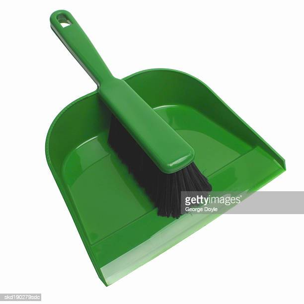 close up of a dustpan and brush - dustpan and brush stock pictures, royalty-free photos & images