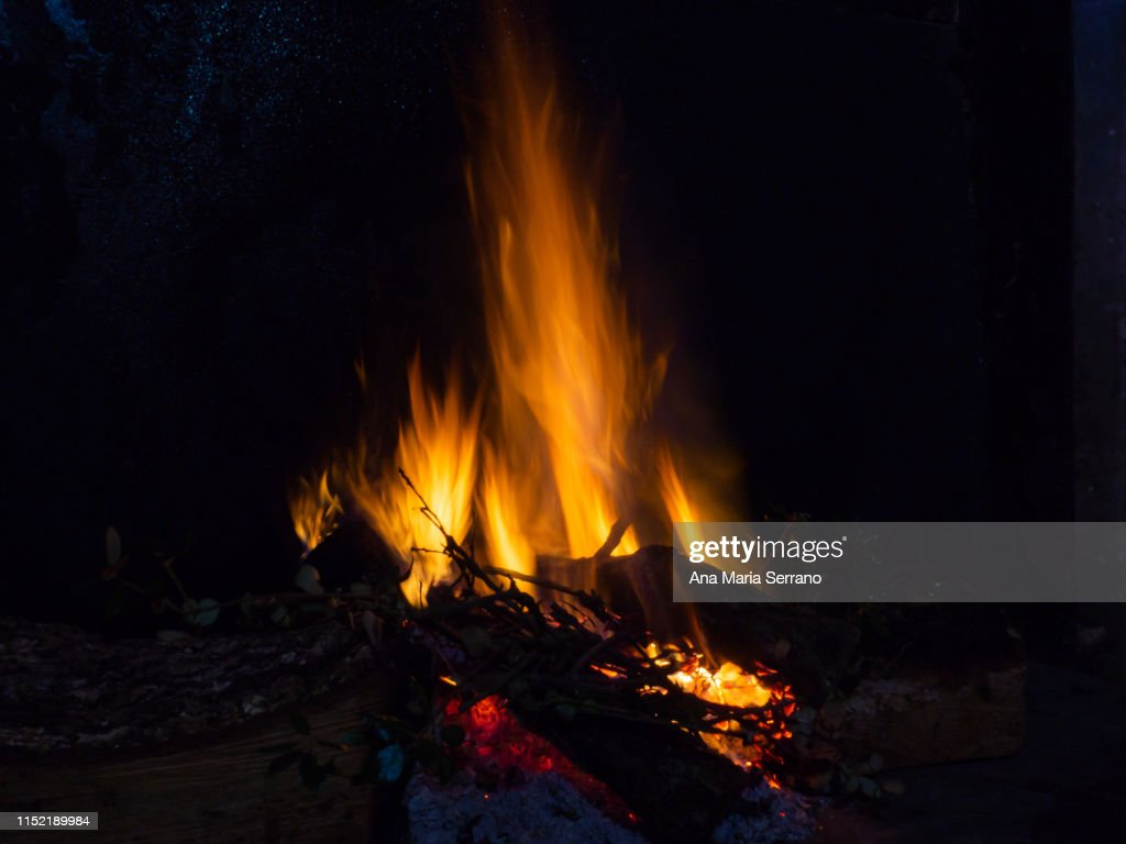 Close Up Of A Fire Burning High Res Stock Photo Getty Images