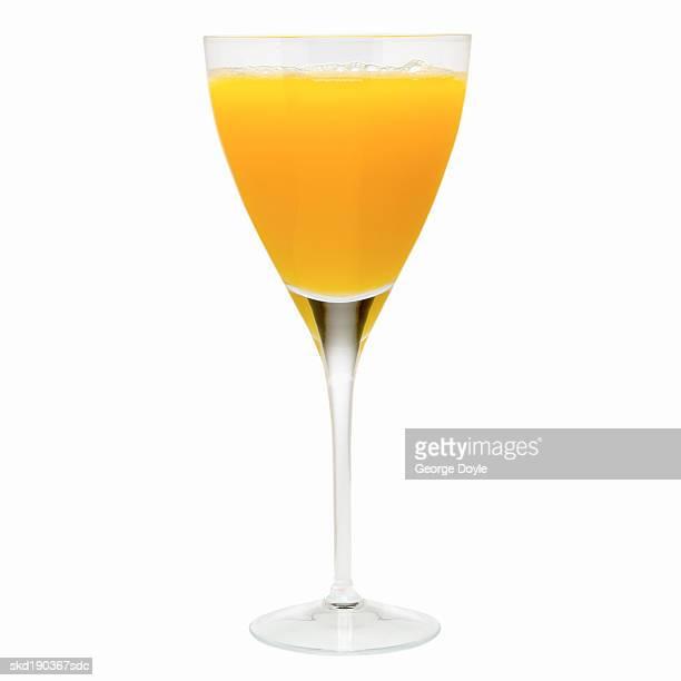 Close up of a glass of orange juice