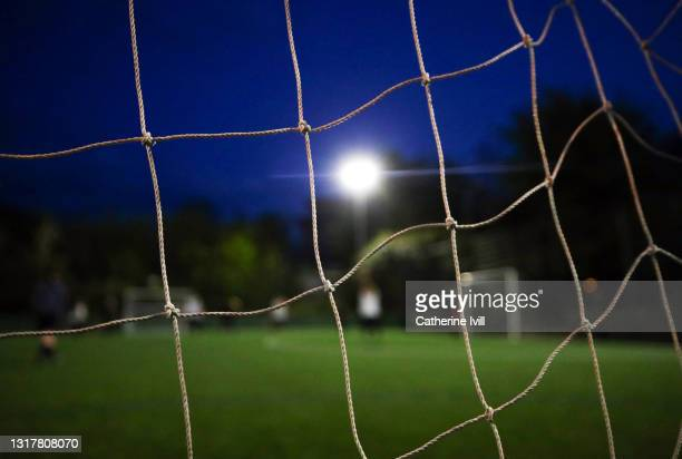 close up of a goal post - menopossibilities stock pictures, royalty-free photos & images