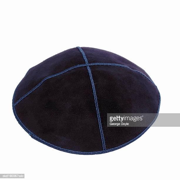 close up of a judaism hat - keppeltje stockfoto's en -beelden