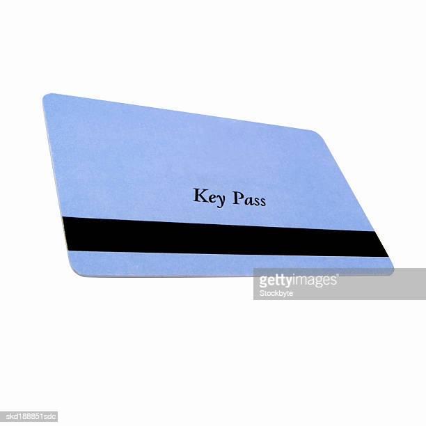 Close up of a key pass card