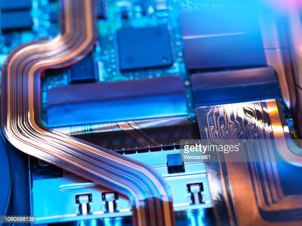 close up of a laptop mother board - computer chip stock pictures, royalty-free photos & images