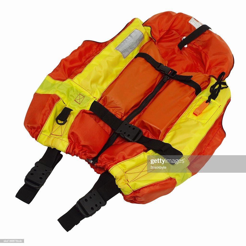 Close up of a life jacket : Stock Photo