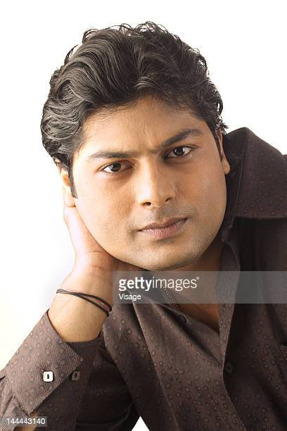 close up of a male model - indian male model stock-fotos und bilder