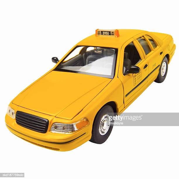 Close up of a model New York taxi car