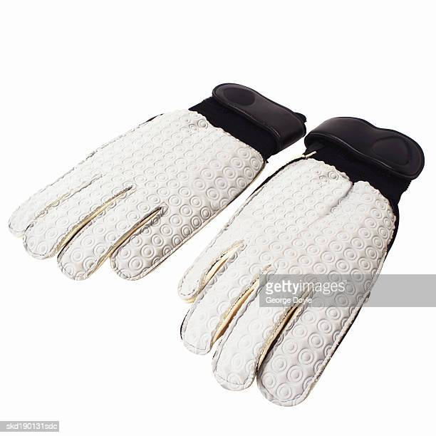 Close up of a pair of football gloves