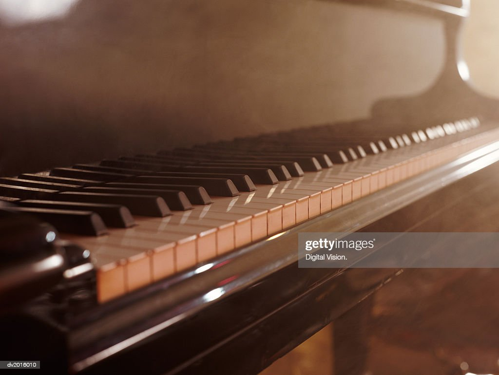 Close Up of a Piano : Stock Photo