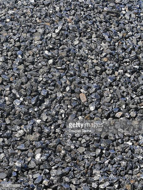 Close up of a pile of clean black coal (Bituminous coal)