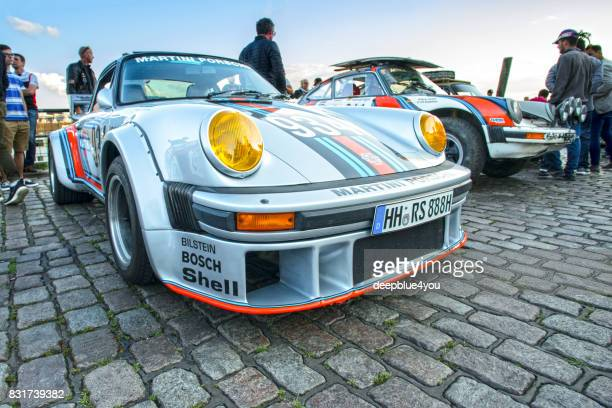 Close up of a Porsche 934 during the Magnus Walker event on the Fischmarkt Hamburg