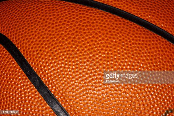 Close up of a Professional Leather Basketball