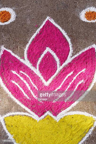 Close up of a rangoli
