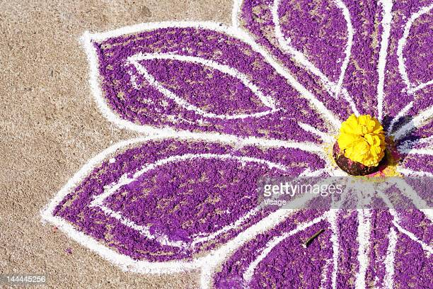 close up of a rangoli - pongal festival stock pictures, royalty-free photos & images