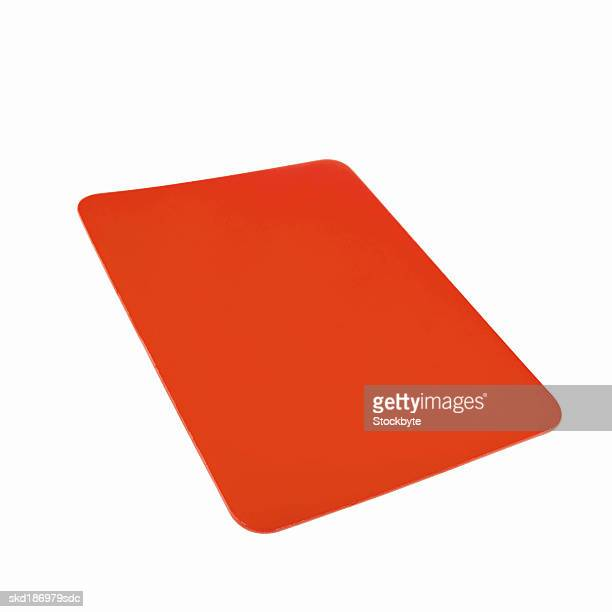 Close up of a red card