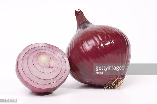 Close up of a red onion
