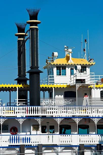 close up of a riverboat - new orleans stock photos and pictures