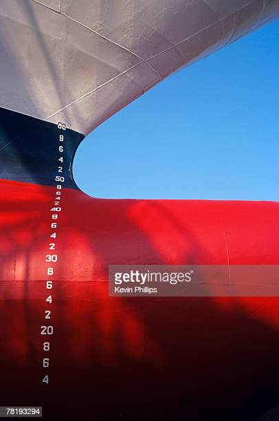 Close up of a ships steel hull