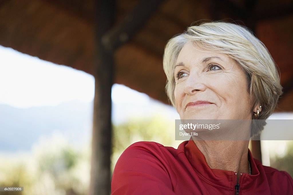 Close Up of a Smiling Mature Woman : Stock Photo