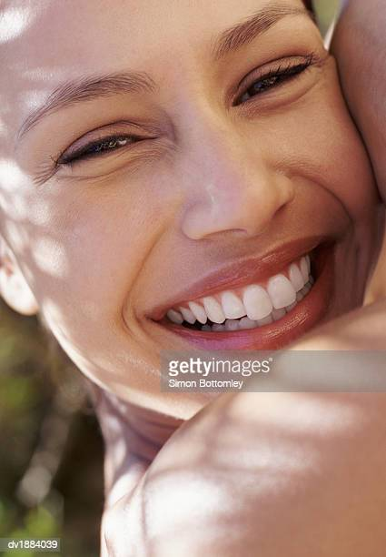 Close up of a Smiling Young Woman