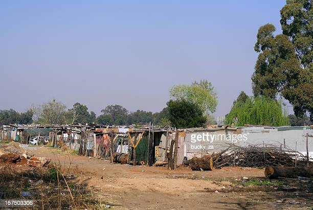 close up of a squatter camp near soweto, south africa - refugee camp stock pictures, royalty-free photos & images