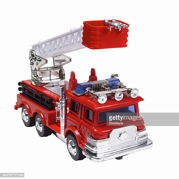 Close up of a toy fire truck