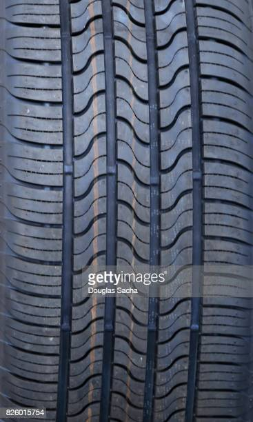 Close up of a vehicle tire
