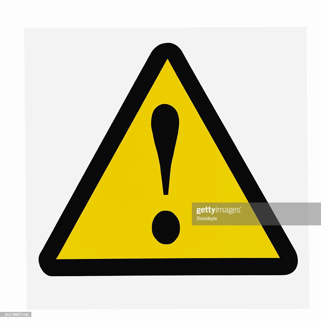 Close up of a warning sign : Stock Photo