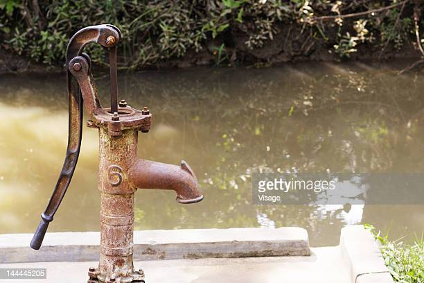 Close up of a water pump