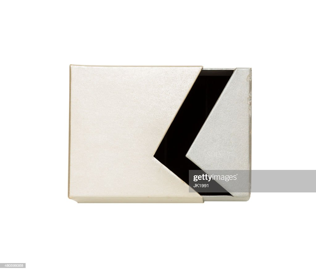 Close up of a white box on white background. : Stock Photo