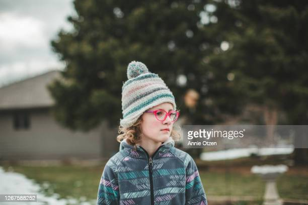 close up of a winter girl - sioux falls stock pictures, royalty-free photos & images