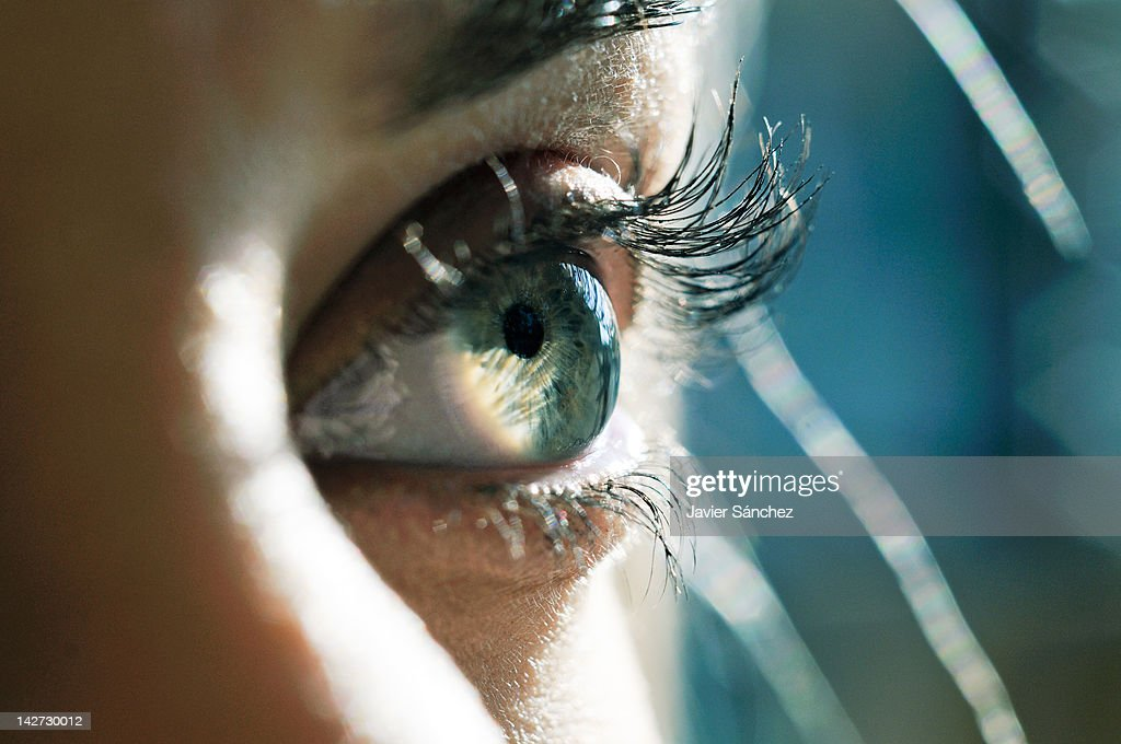 Close up of a woman eye : Stock Photo