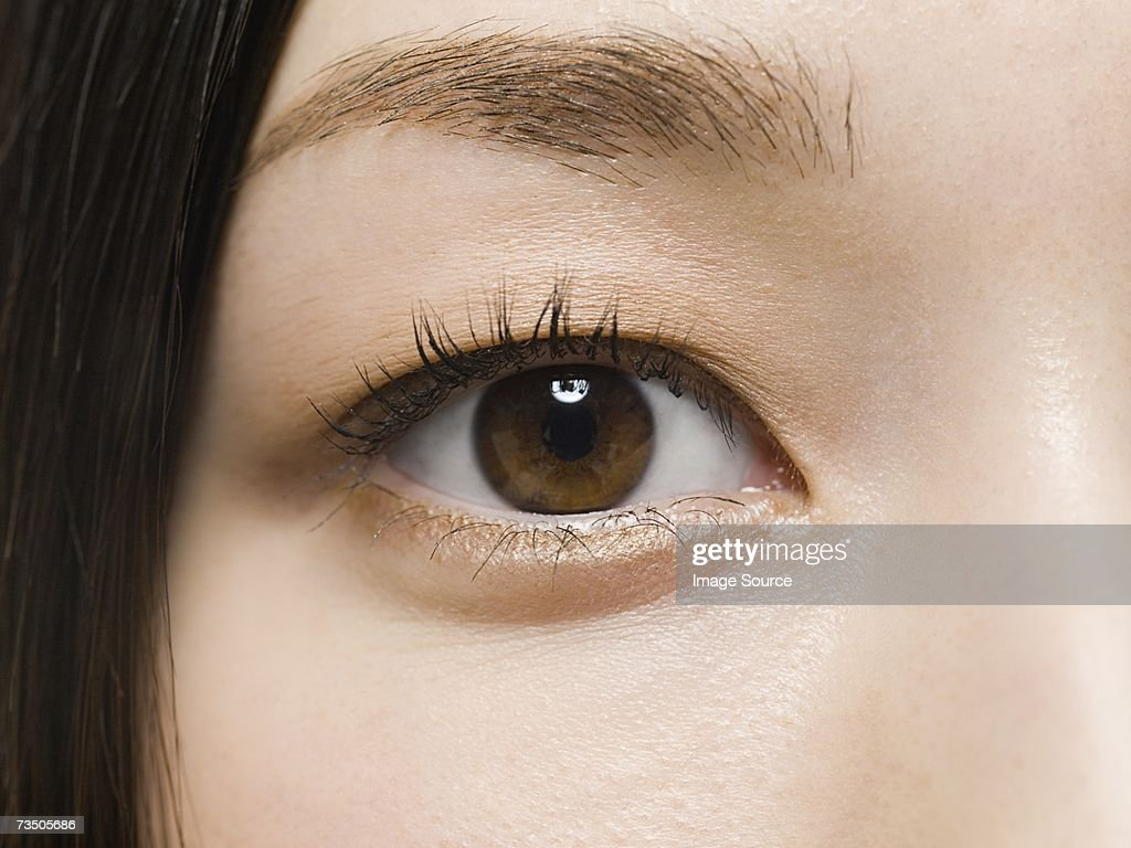 Close up of  a woman's eye : Stock Photo
