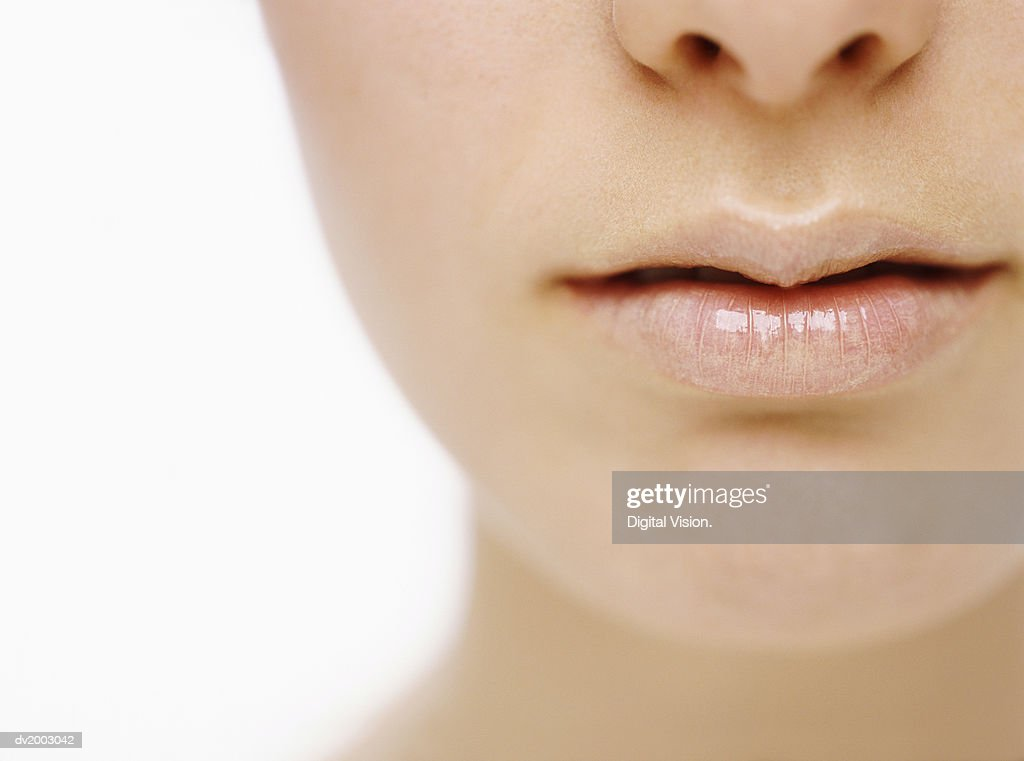 Close up of a Woman's Lips : Stock Photo