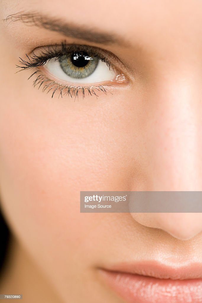 Close up of a young womans eye : Stock Photo