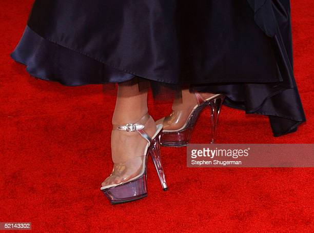 Close up of actress Helen Mirren shoes as she arrives at the 11th Annual Screen Actors Guild Awards at the Shrine Exposition Center on February 5,...