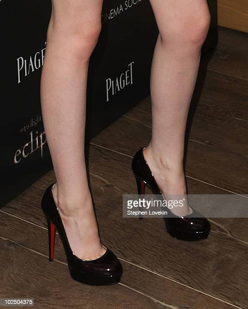 A close up of actress Kristen Stewart's shoes at The Cinema Society Screening Of 'The Twilight Saga Eclipse' at Crosby Street Hotel on June 28 2010...