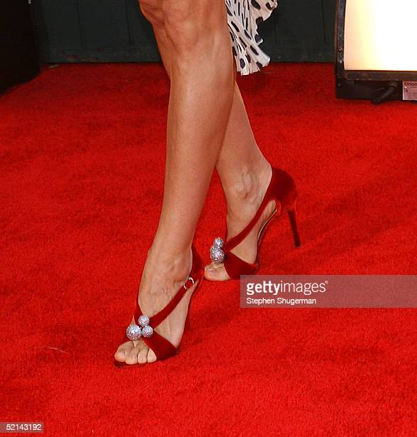 Close up of actress Sarah Jessica Parker shoes as she arrives at the 11th Annual Screen Actors Guild Awards at the Shrine Exposition Center on...
