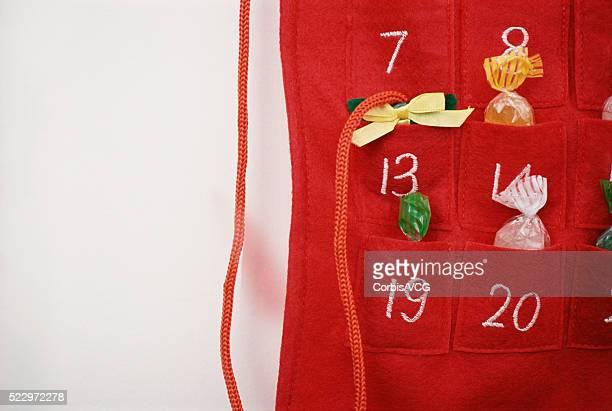 Close up of Advent Calendar