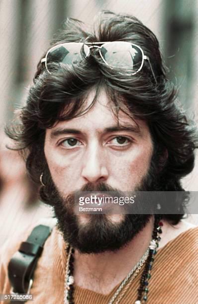 Close up of Al Pacino as Serpico while filming the movie Serpico.