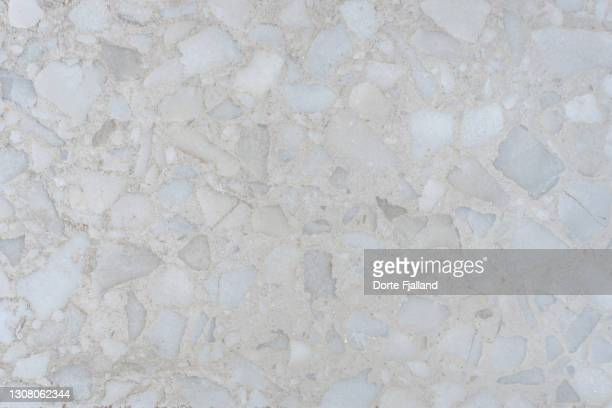 close up of almost white terrazzo - dorte fjalland stock pictures, royalty-free photos & images