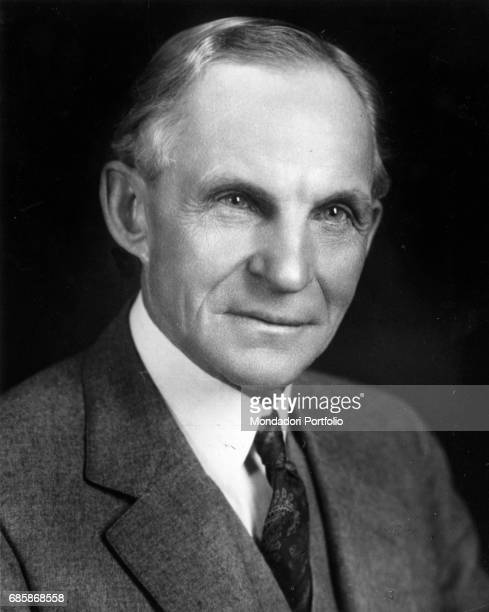 Close up of American entrepreneur Henry Ford founder of the Ford Motor Company USA 1934