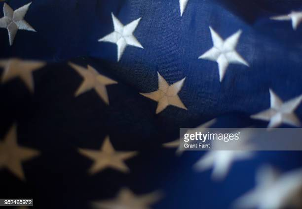 close up of american flag - patriotism stock pictures, royalty-free photos & images