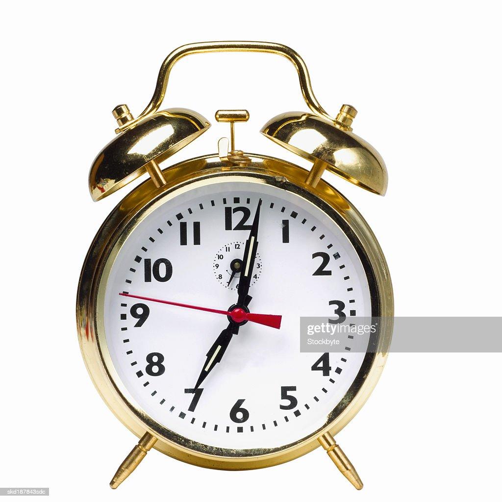 Close up of an alarm clock : Stock Photo