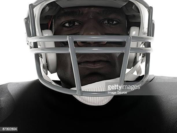 Close up of an american football player