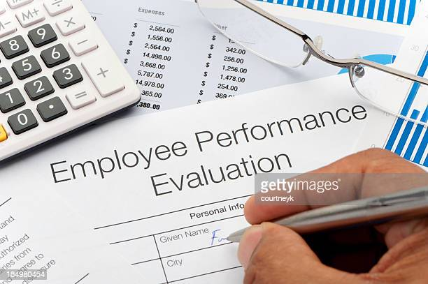Close up of an Employee Performance Evaluation Form